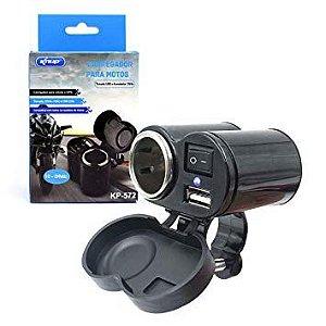 Tomada Usb P/ Moto Carregador Celular Gps kp-572