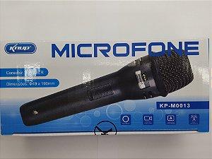 Microfone knup c/fio semi profissional cabo de 4Mt kp-M0013