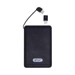 Carregador Power Bank De Bateria 10000mah Android/ios Knup KP-PB01