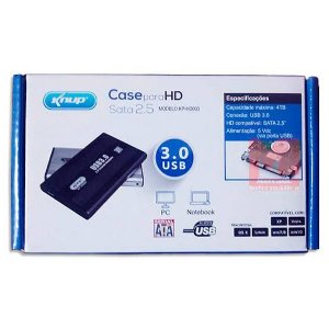 Case P/ Hd Usb 3.0 Disco Rígido 2.5' Knup Kp-Hd003