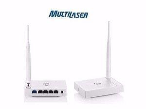 Roteador Wireless 150Mbps 1 Antena Fixa 4 Portas Lan Multilaser RE057