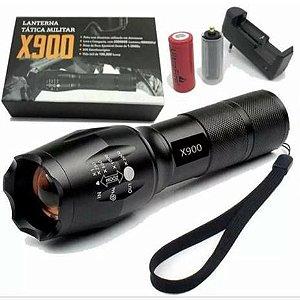 Lanterna X-900 Led Super Potente Recarregável