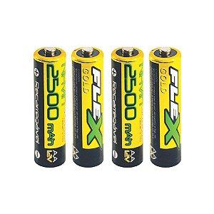 Bat./Pilha Rec. c/4 und.FLEX FX-AA25LB4