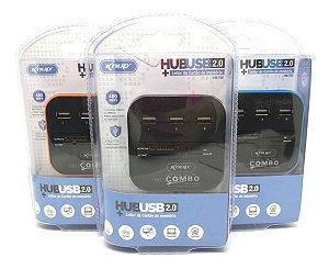 Hub Usb 2.0 Com Leitor De Cartão Integrado Knup Hb-T58