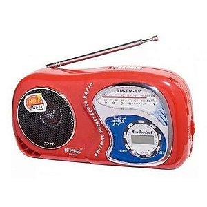 Rádio de som Am/Fm/Tv Com Relógio