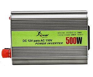 Inversor Conversor Tensão Transformador 500W 12V 110V KP-507 Knup