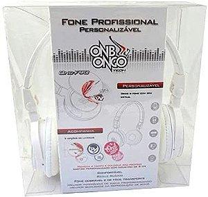Fone de Ouvido C/Fio Dobrável Branco F90