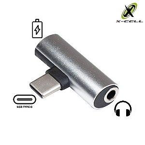 Adaptador Tipo C para Fone de Ouvido e Carregador X-Cell XC-ADP-18