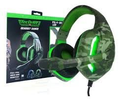 Headset Gamer Tecdrive LED Militar Selva PS3/PS4 XBOX ONE NSWITCH PX4