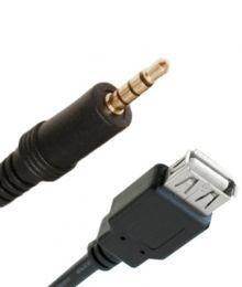 Cabo USB fêmea + P2