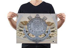 Pôster Arena Corinthians Escudo de Aço