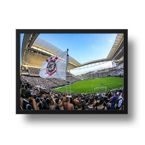 Quadro Arena Corinthians e a Bandeira