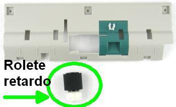 Rolete reverso alimentação papel ADF Lexmark X642 X644 X646 X654 X656 X658 (compatível)