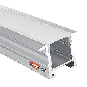 Perfil Led Alumínio Embutir 2,5cm x 1,8cm -  LUM50