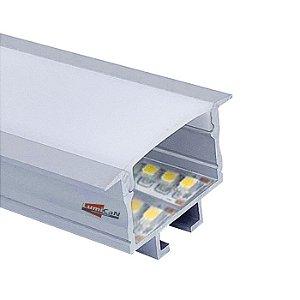 Perfil Led Alumínio Embutir 3,2cm x 1,3cm - LUM51M