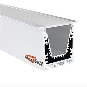 Perfil Led Alumínio Embutir 4,0cm x 3,5cm - LUM55