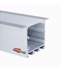 Perfil Led Alumínio Embutir 5,0cm x 3,5cm - LUM51