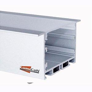 Perfil Led Alumínio Embutir 9,0cm x 3,5cm - LUM53