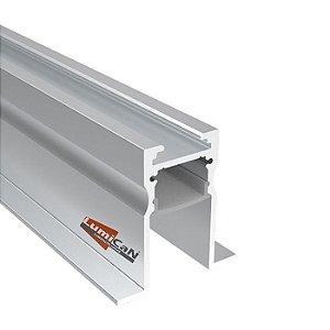 Perfil Led Alumínio Embutir com Recuo 3,5cm x 3,6cm - LUM100