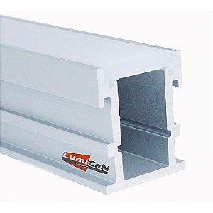 Perfil Led Alumínio Embutir Piso/Solo 2,1cm x 2,6cm - LUM41
