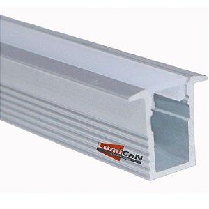 Perfil Led Alumínio Embutir Super Slim 1,3cm x 1,2cm - LUM11SL