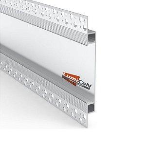 Perfil Led Alumínio No Frame Gesso 14,5cm x 1,3cm - LUM98