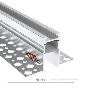Perfil Led Alumínio No Frame Gesso 6,0cm x 3,6cm - LUM101