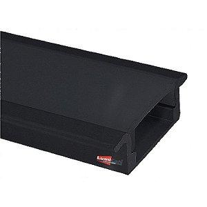 Perfil Led Preto Fumê Embutir Slim 2,4cm x 0,6cm - Lum21P