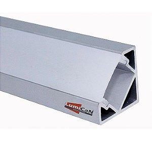 Perfil Led Alumínio Sobrepor Canto 90° 1,8cm x 1,8cm - LUM33