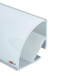 Perfil Led Alumínio Sobrepor de Canto 90° 2,9cm x 2,9cm - LUM32G