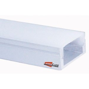 Perfil Led Alumínio Sobrepor Slim 1,7cm x 0,8cm - LUM22