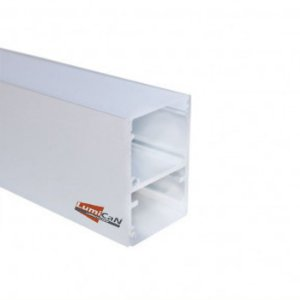 Perfil Led Alumínio Pendente Luz Direta e Indireta 2,5cm x 3,4cm - LUM70