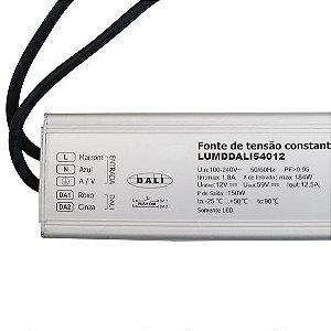 Fonte Dimerizável 150w 12V Blindada Protocolo DALI IP67 - LUMD44