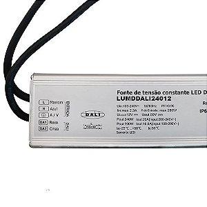 Fonte Dimerizável 200w 12V Blindada Protocolo DALI IP67 - LUMD43