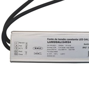 Fonte Dimerizável 240w 24V Blindada Protocolo DALI IP67 - LUMD42