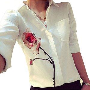 Camisa Social Estampa Floral