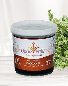 Cera Depilatória Dona Pele Chocolate 1,2Kg