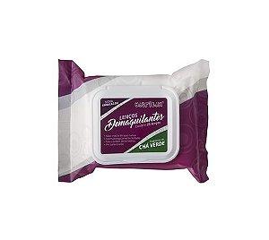 Lenços Demaquilantes Chá Verde c/25un - Macrilan