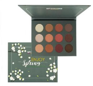 Paleta de Sombras 12 Cores Enjoy Spring - Sp Colors