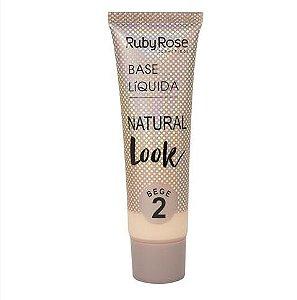 Base Líquida Natural Look HB8051 (BEGE) - Ruby Rose
