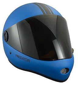 Capacete Predator DH6 Full Face Azul Listra Preta