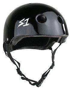 Capacete S1 Helmets Lifer Black Gloss