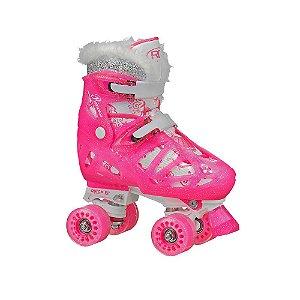 Patins Quad Roller Derby Princess Ajustável 32 - 36