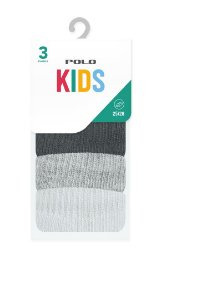 Kit Kids Invisível Atoalhada 3 Pares - Tamanho: 25 a 28