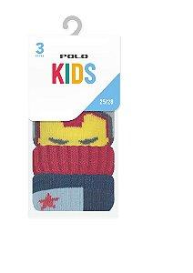 Kit Kids Menino 3 Pares - Tamanho: 25 a 28