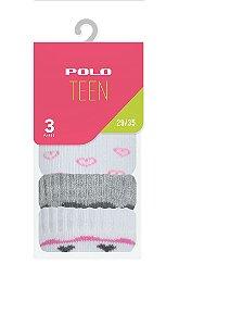 Kit Teen Menina 3 Pares - Tamanho: 29 a 35