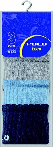 Kit Teen Menino 3 Pares - Tamanho: 29 a 35