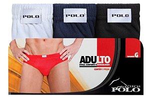 Kit Slip Adulto 3 Unidades - Tamanho: GG