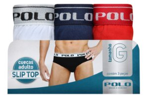 Kit SlipTop Adulto 3 Unidades - Tamanho: M
