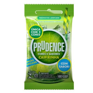 Preservativo Prudence Cores Sabores Caipirinha